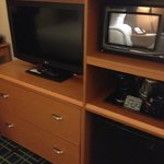 TV, Microwave and Fridge