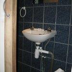 Basic sink in renovated bathroom