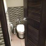 Ladies Bathroom toilet