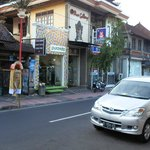 Nyoman's car in front of Homestay