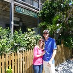 My son and wife enjoying the Cypress house