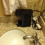 coffee maker on lavatory