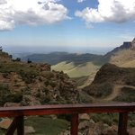 The view from the highest pub in Africa inside the Lesotho border