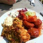 Mixed salad with Kofte.