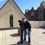 Talking Telescope on the roof terrace