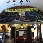 """inside the """"U Zvonu"""" Cafe"""