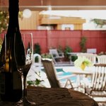 Direct access to the pool garden from Guesthouse Suite