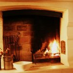 Fireplace in N.A.L. Suite