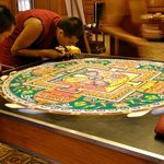 Tibetan Monks Create a Mandala