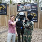 Louis Tomlinson & Zayn Malik from 1D, at Bawtry Paintball Fields
