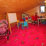 Lounge with playground for children