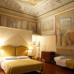 Room with frescoes
