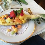 This is the fruit plate that came with the Asparagus Fritata!!!