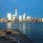 View from the restaurant towards Manhattan