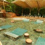 ultima piscina con acceso solo para huespedes, incluye bar.
