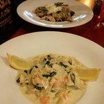 Salmon noodels, Mushroom noodles