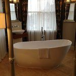 Bath in a windowed alcove of our suite