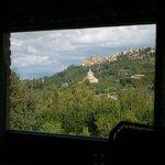 Vista dal bagno della suite San Donato