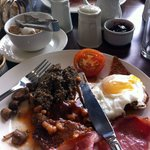 our breakfast with haggis