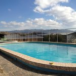 Beautiful pool overlooking their coffee production facilities, very clean!