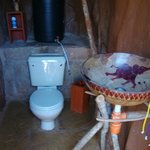A toilet, sink and shower offer maximum privacy in each manyatta.