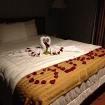 Romantic Suprise in our room for our Anniversary