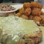Chickenfried Steak w Green Chile Sauce
