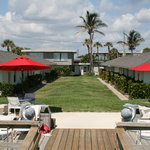 Rooms are steps to the sundeck and beach