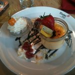 Creative and delicious creme brulé.