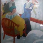Artwork in hotel lobby