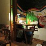La recepción - acorde a Valpo, con un grafiti