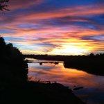 Sunset over the Orange River