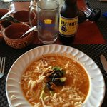 The tortilla soup. My favorite. I'm craving it now.
