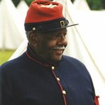 Black Union officer during annual Living History Weekend