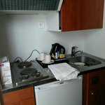 kitchenette- note cabinet door would not close completely