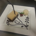 Chocolate and Praline Mousse with Cardamom Ice Cream