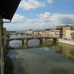Views of the Arno River from our room