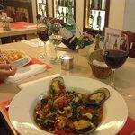 Jantar fantástico no La Tarantella