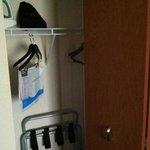 Closet area.