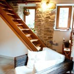 stears to sleeping room in attic space
