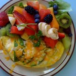 Fresh Fruit comes with Omelet
