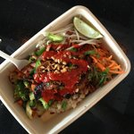 Today's Asian Box Chicken/brown rice/sriracha/and the works!