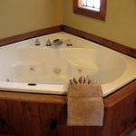 Jacuzzi tub in your private bathroom