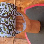 coffee mug tropy outside Comb Ridge Coffee