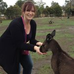 "Me feeding ""Roger"" the hungry roo"