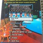 free drink voucher