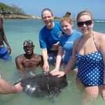 """Neil and the girls go """"hands-on"""" with a stingray"""