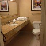 large vanity area...yeah!