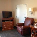 Desk/recliner/TV area