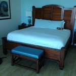 The huge king size bed